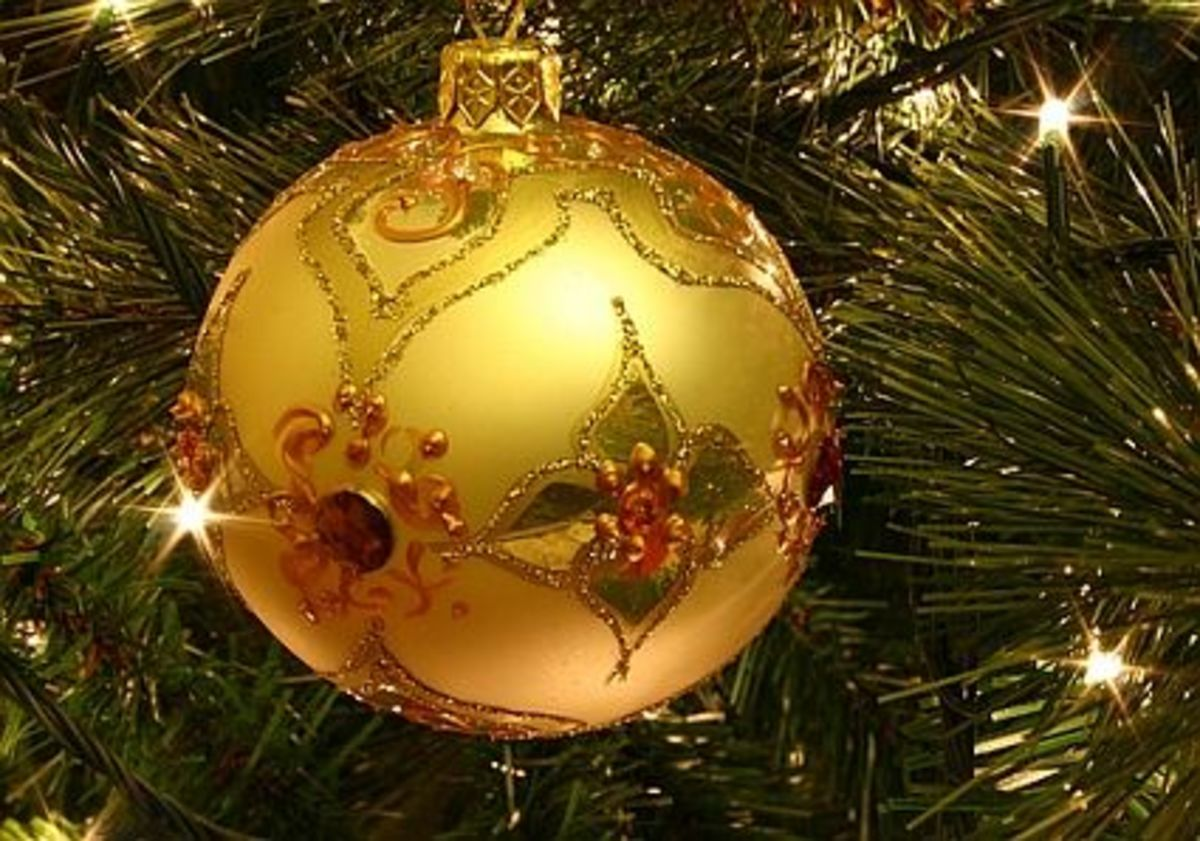 Hey, isn't your tree beautiful! Imagine how it will look after you bling it out with ornaments!