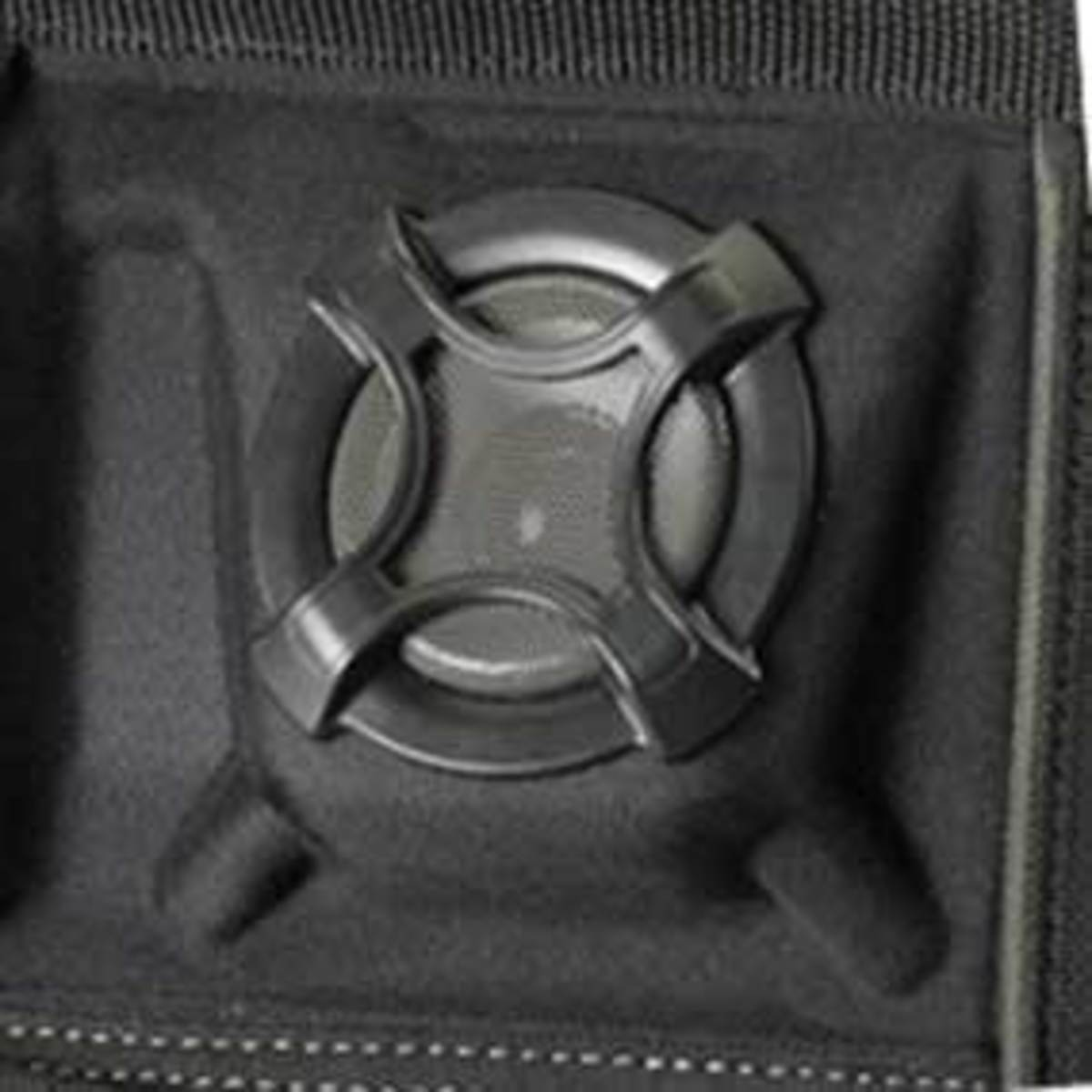 A close-up look at the speakers of the Custom Leathercraft A233.