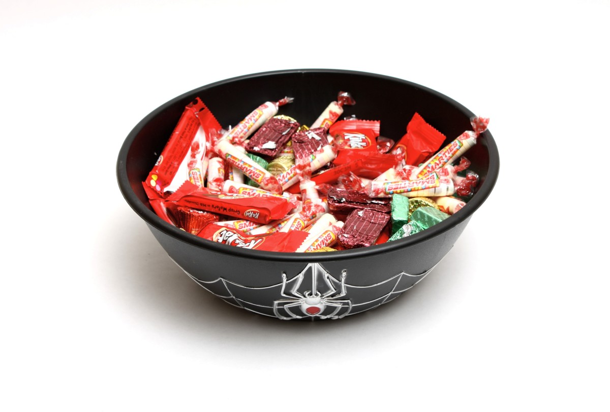 An unsupervised candy bowl is often a big temptation for unsupervised trick-or-treaters out for the spoils.