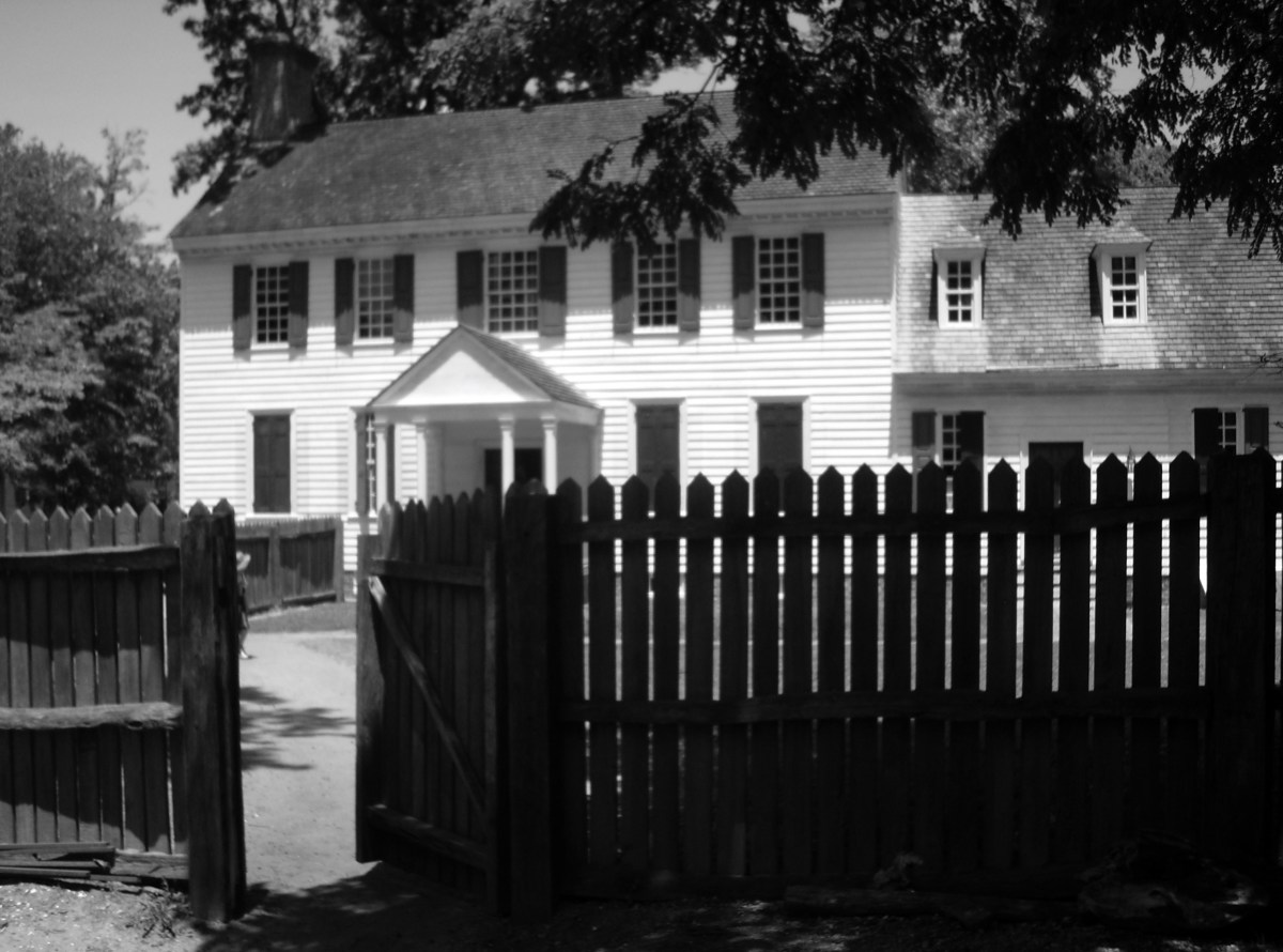 Old buildings, such as this home in Colonial Williamsburg, have tales of hauntings.