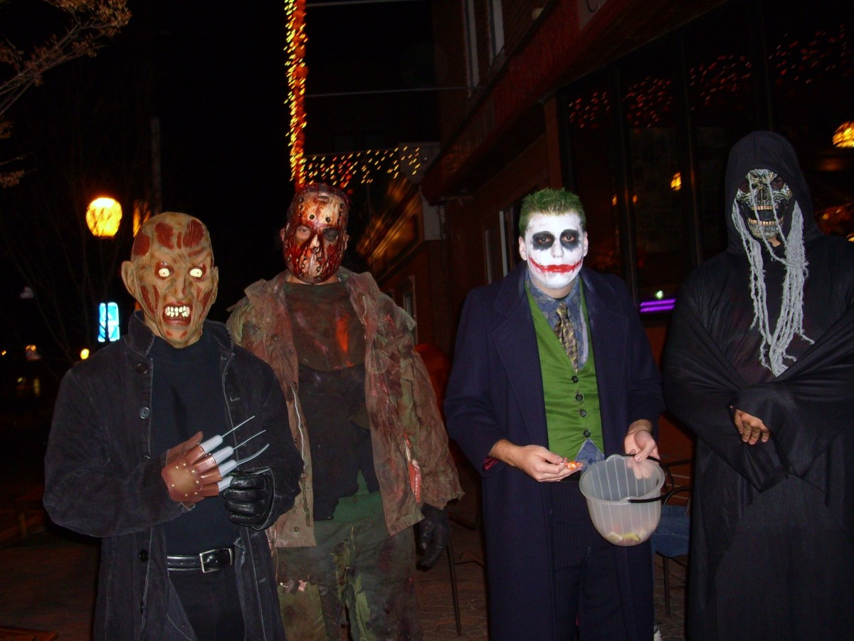 Some costumes easily conceal body features and faces, completely hiding the trick-or-treater's identity.