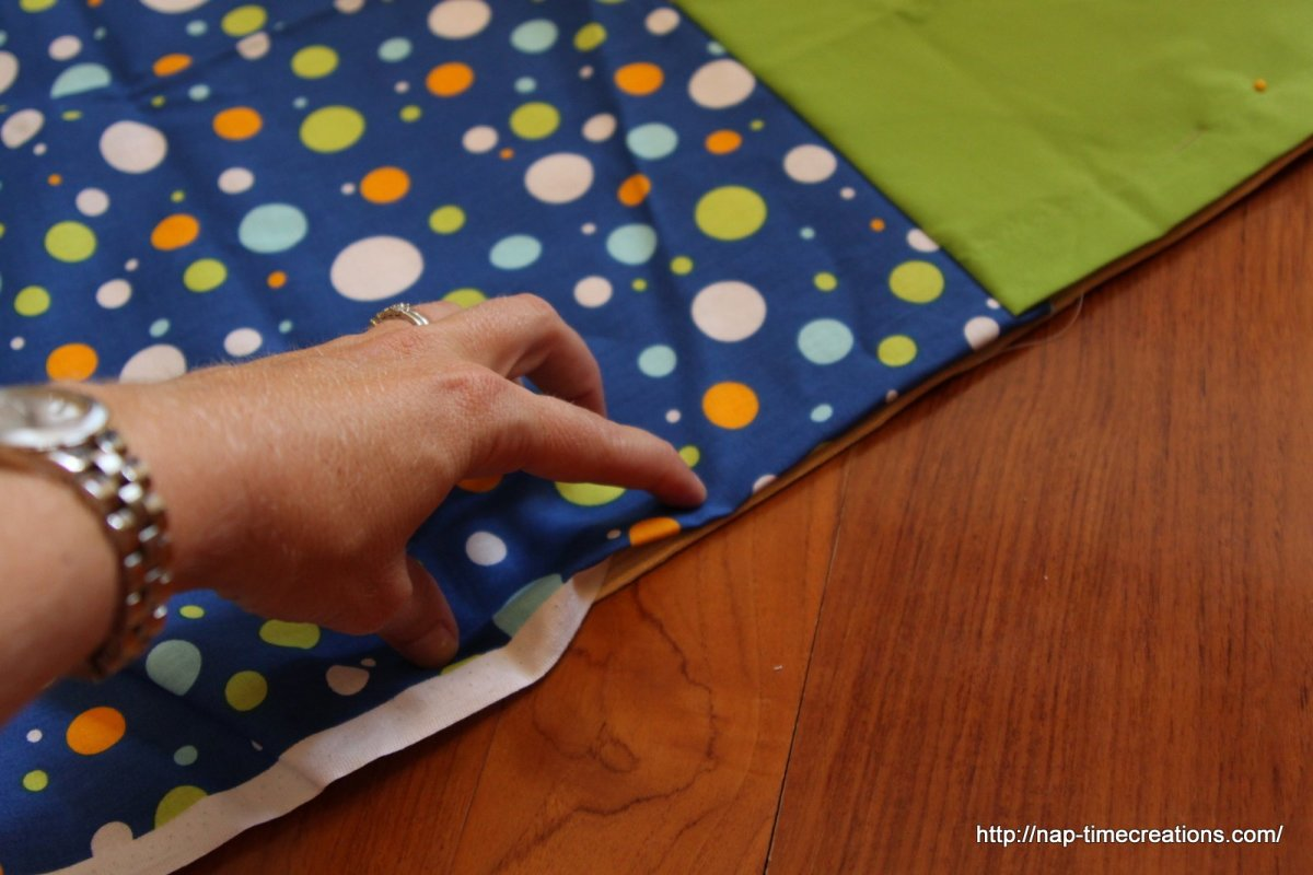 Pinning Two Folded Hem Edges Together