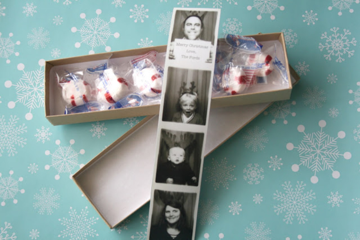 Adding Christmassy details to a family photo will turn it into a fun holiday card.
