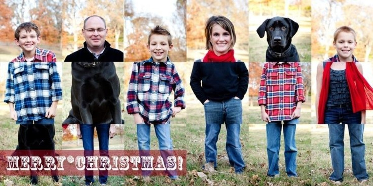 Funny and creative DIY holiday card.