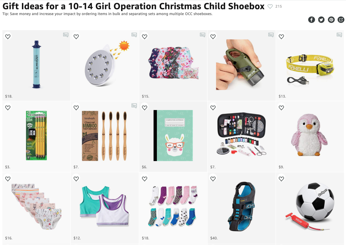 Short on time? My Amazon Idea List has everything you need to pack a life-changing OCC shoebox in one place.