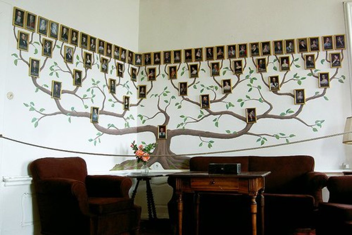 The Šternberg Family Tree Wall showcases and honors the family.
