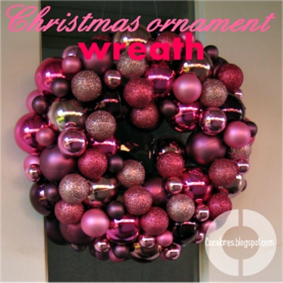 Image #4 - Hot Pink Christmas Ornament Wreath
