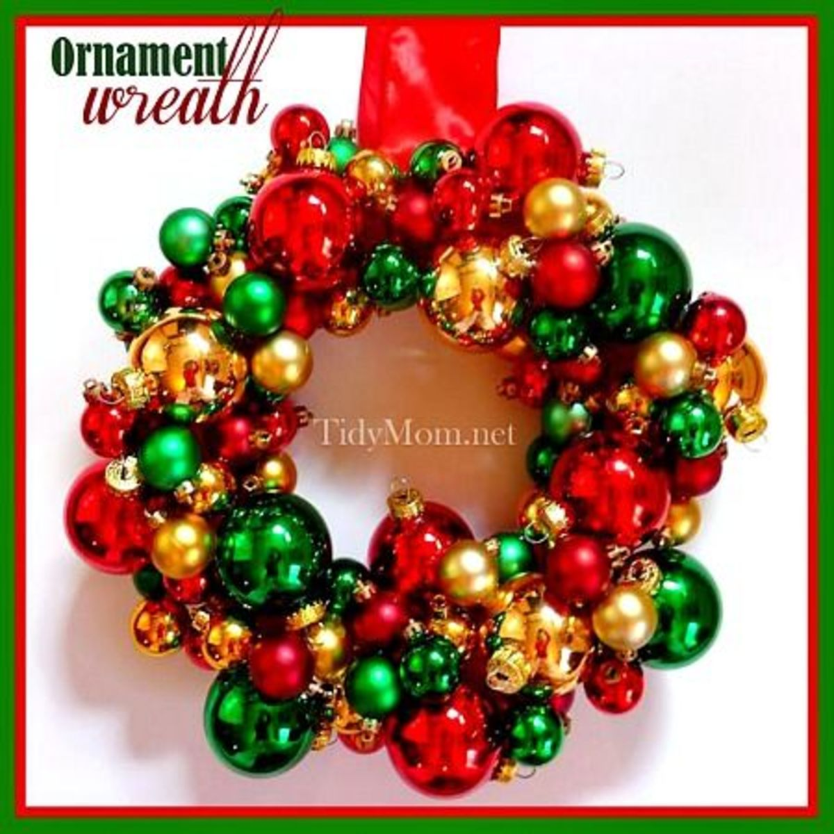 Image #7 - Retro Glass Christmas Ornament Wreath