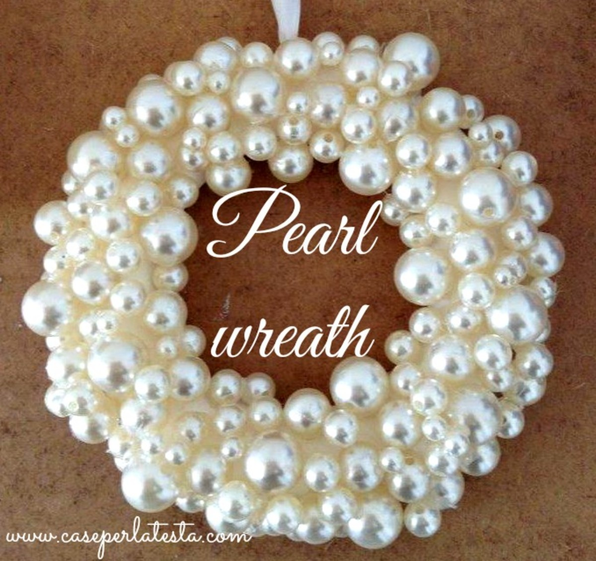 #9 - Pearl Ornament Wreath