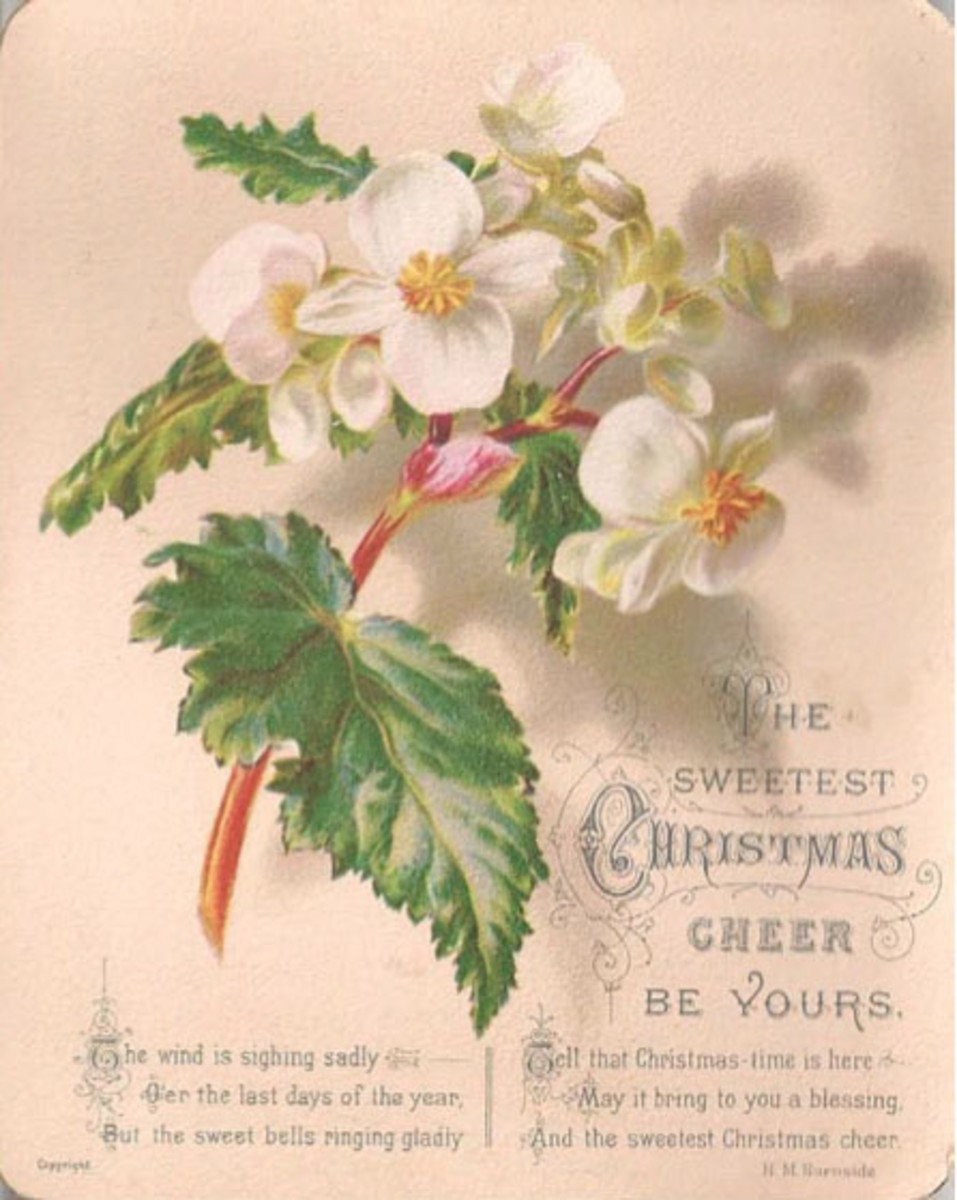 A late 19th century Christmas card