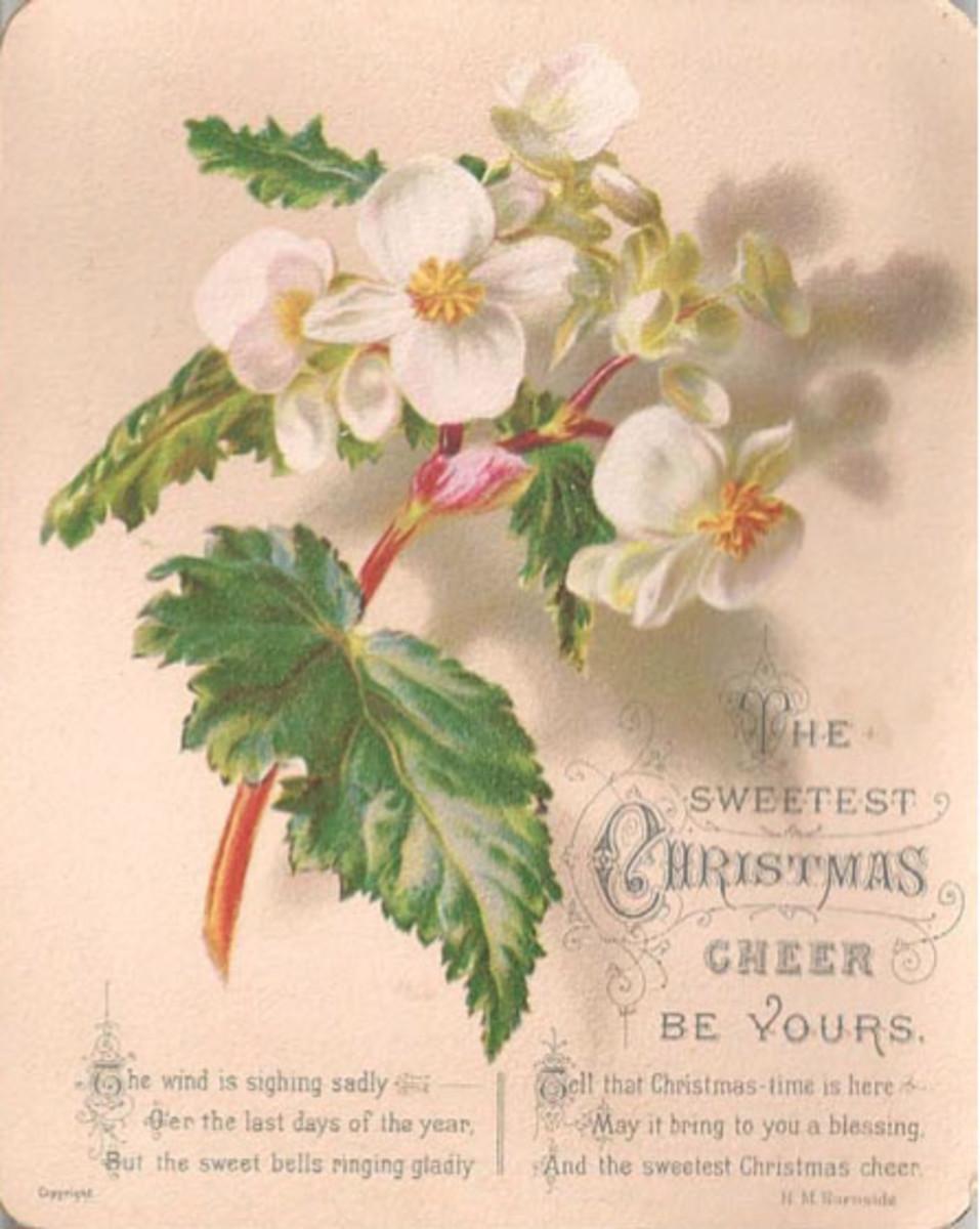 A late 19th century Christmas card