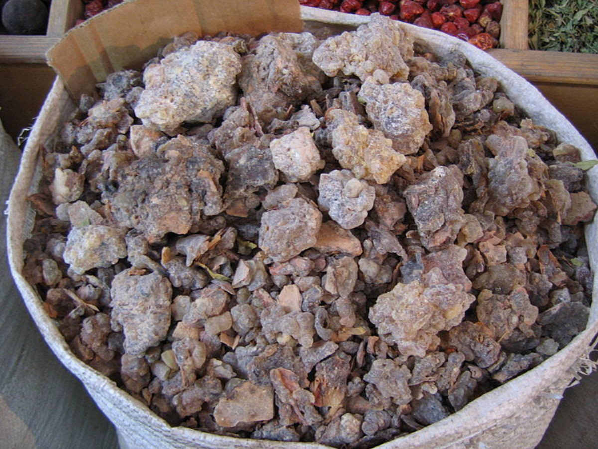 Frankincense is mainly used these days to make incense