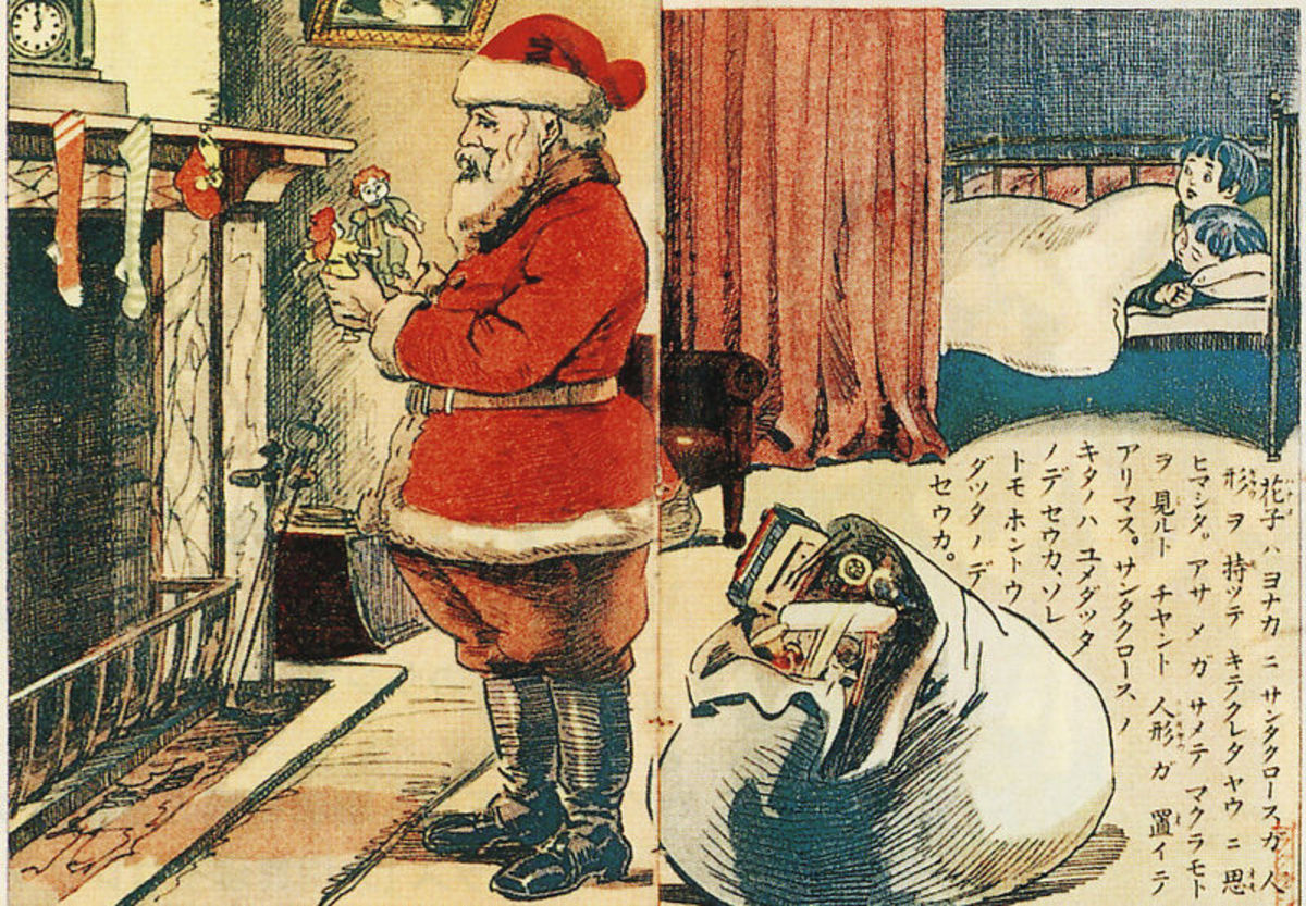 A Japanese drawing of Santa Claus dating from 1914