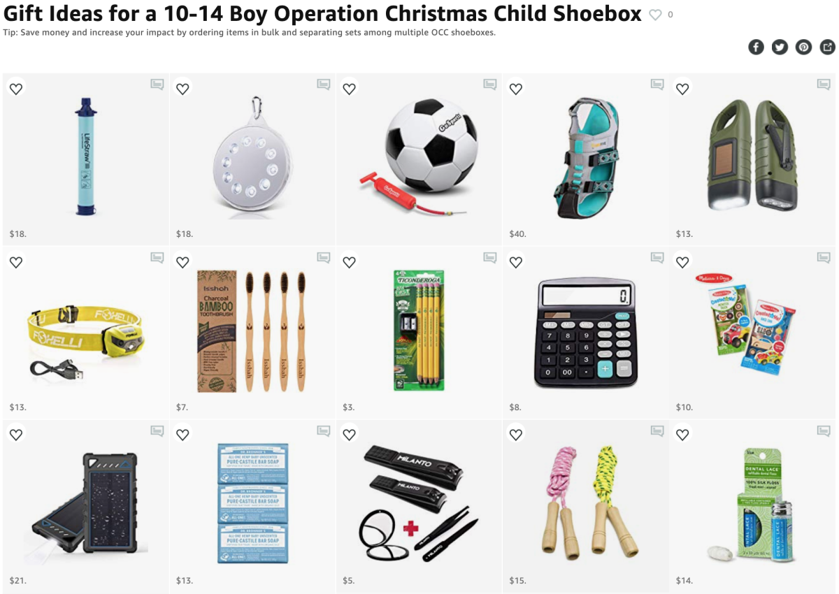 Operation Christmas Child 2019 List.Operation Christmas Child Life Changing Shoebox Ideas For A