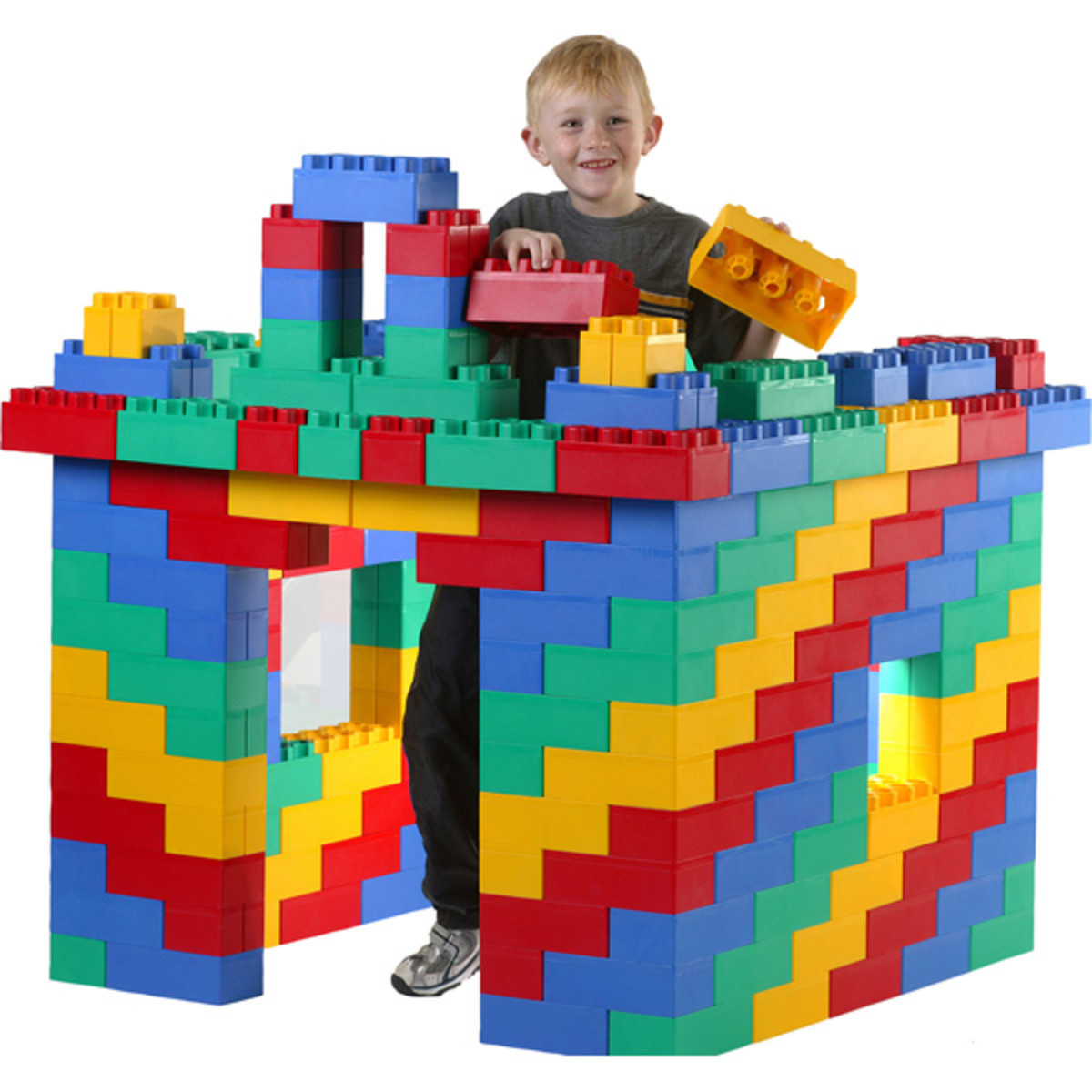 These Jumbo Blocks from Kids Adventure are fun for making forts, planes, and even temporary furniture.