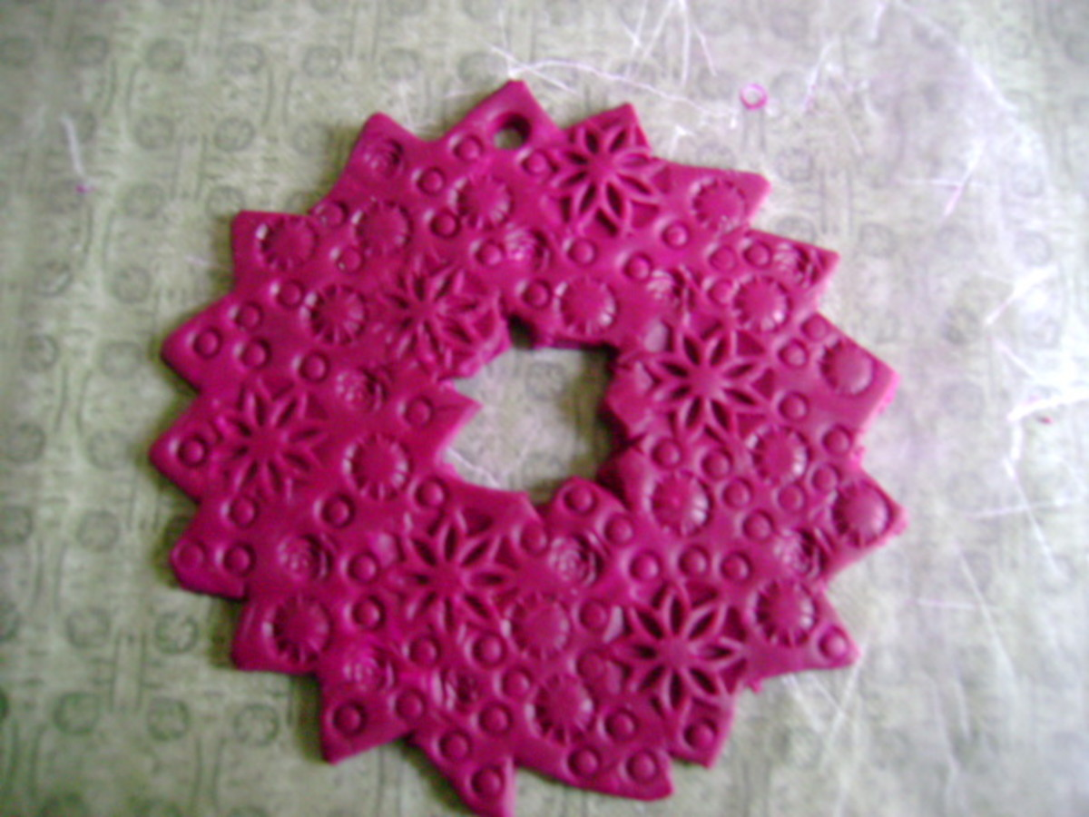 stamped ornament