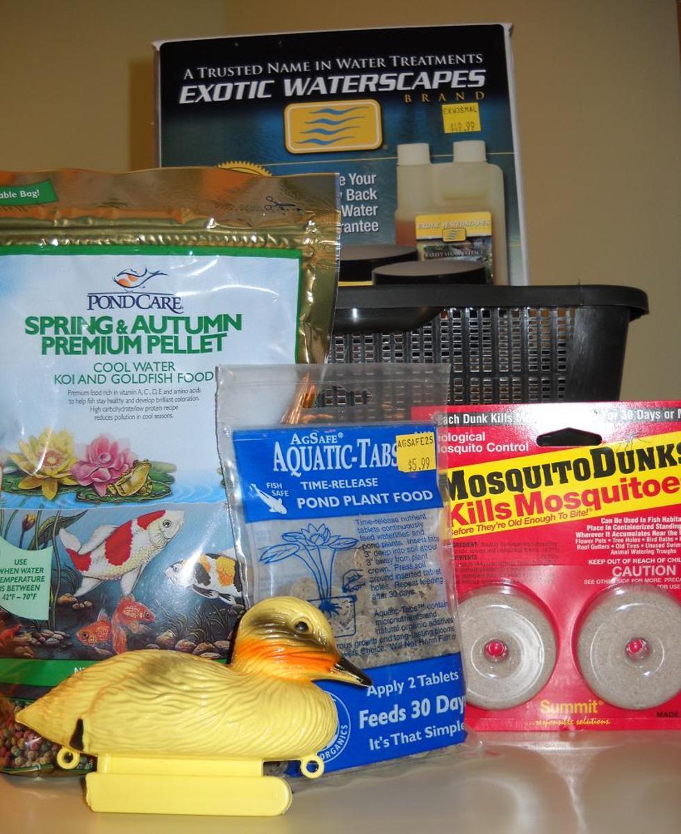 A themed water garden gift basket