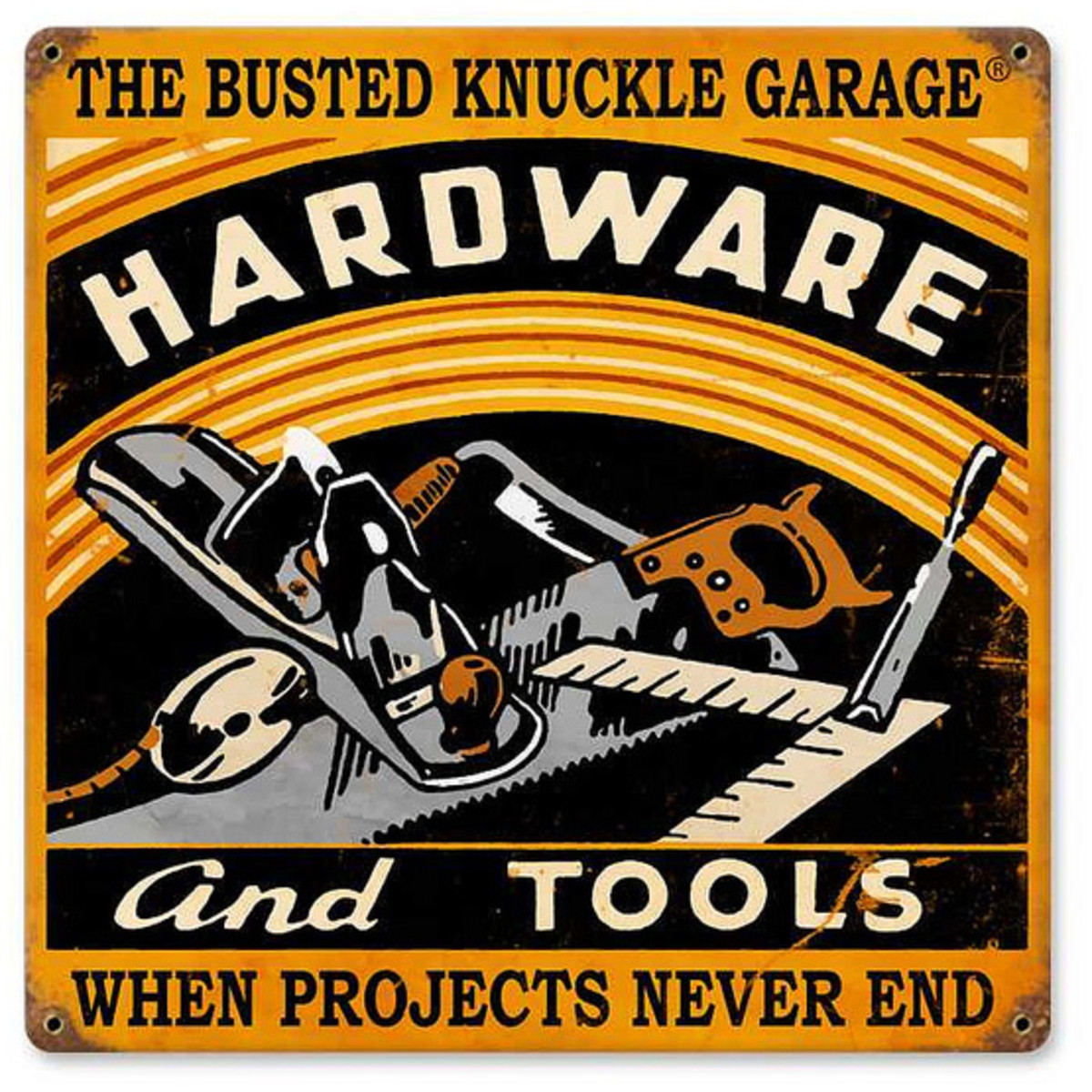 Metal Garage Sign