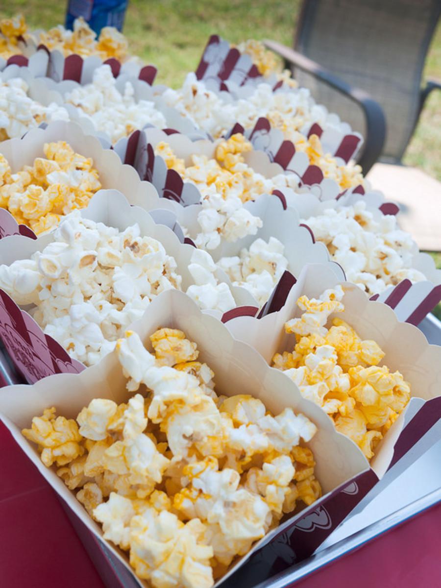 Popcorn snacks.