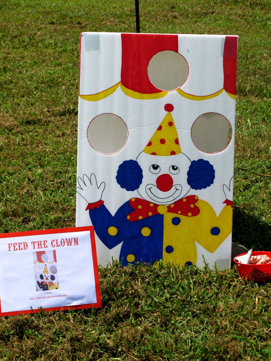 Feed the Clown Bean Bag Toss