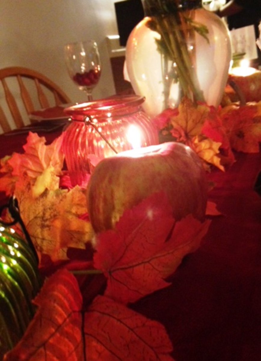 Festive Apple Candle Holders - for instructions see video below