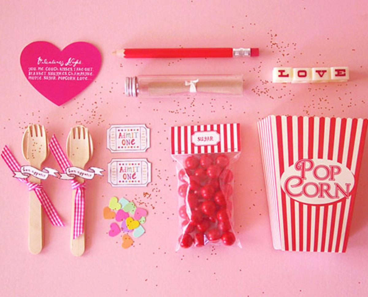 Popcorn Date Nite Invite