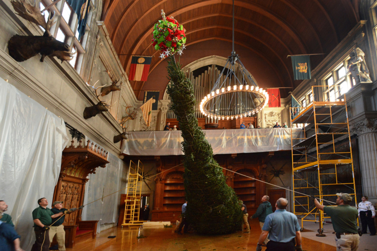 Raising of the Christmas Tree