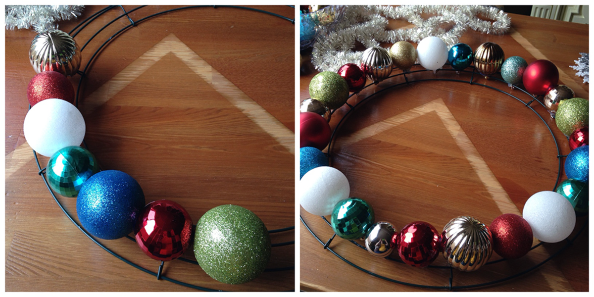 How to Make Christmas Wreaths with Balls