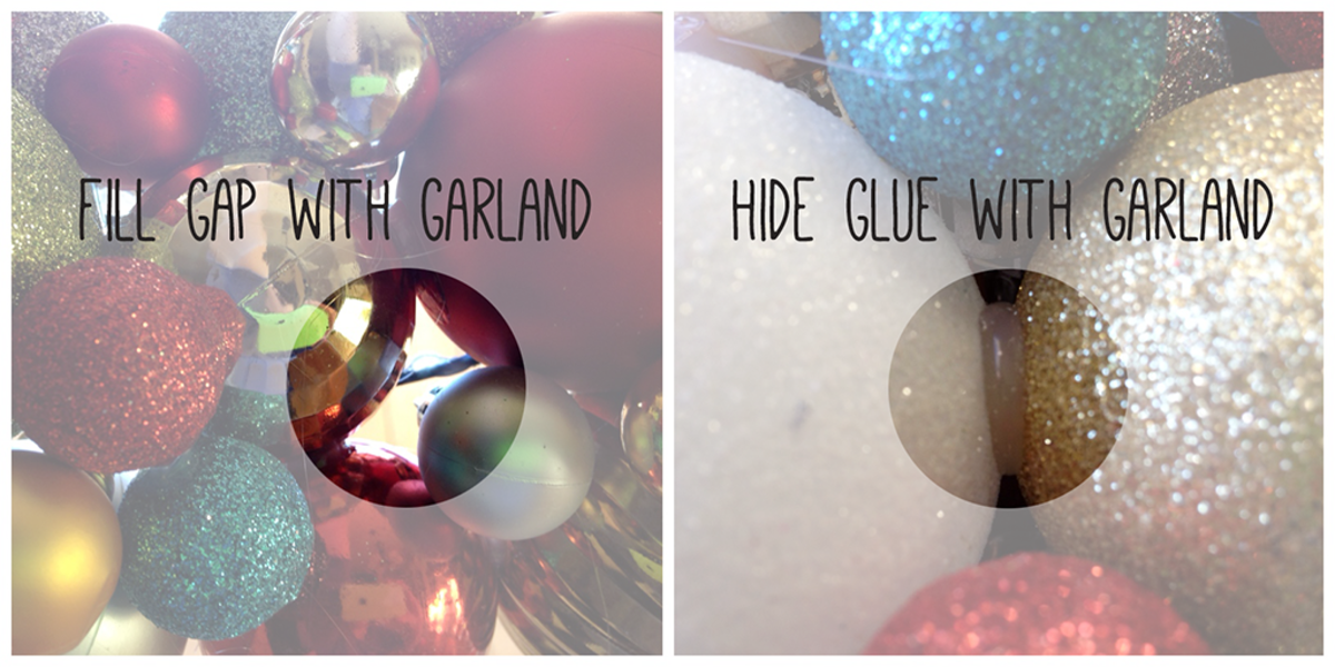 Crafting with Christmas Garland