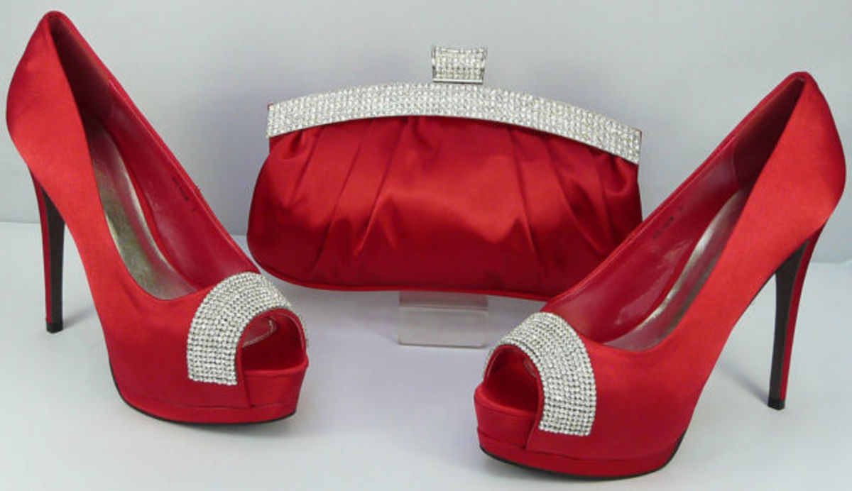 The red shoes for the red, silver, and white theme. (Ordered on eBay.)