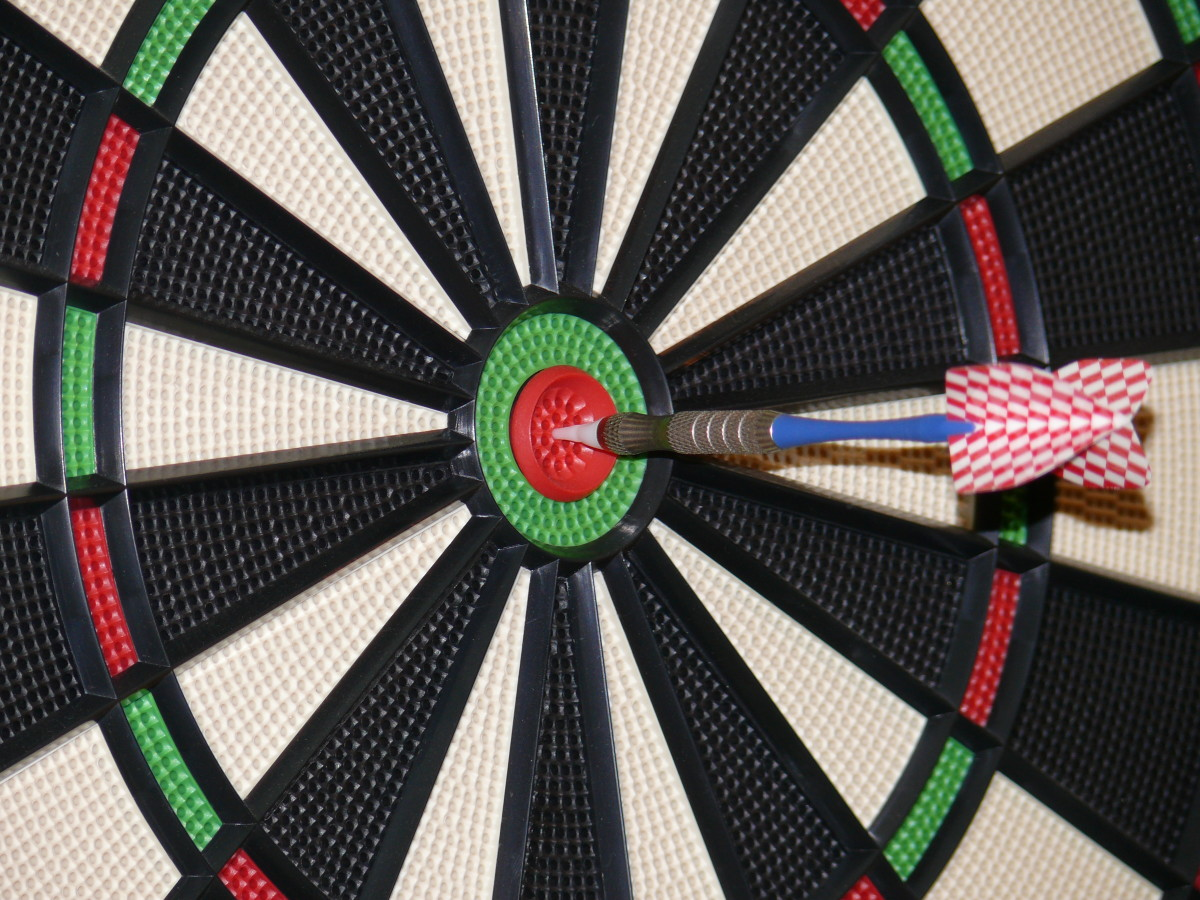 How about a dartboard?