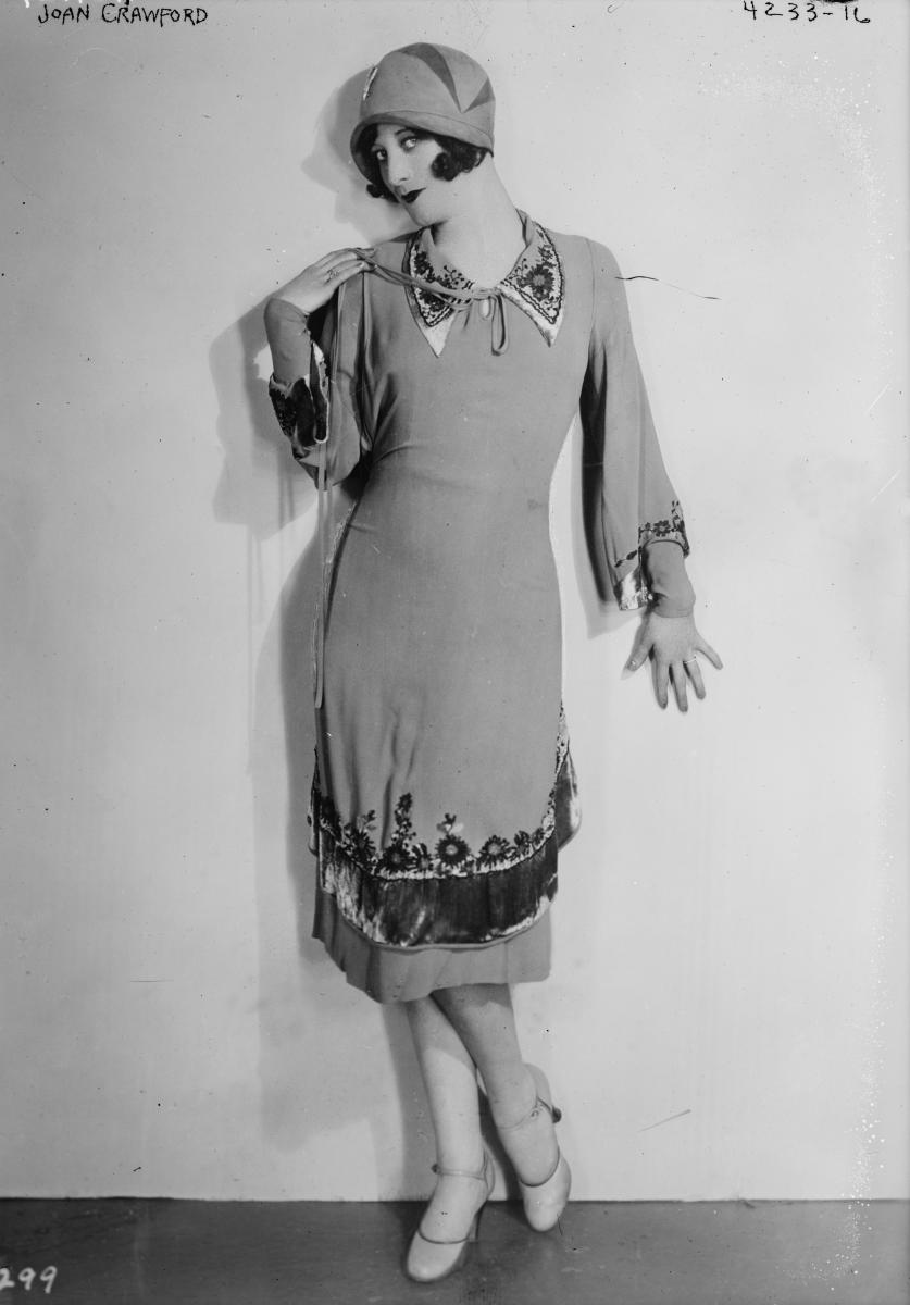 Joan Crawford, 1927 by Bain News Service. Library of Congress digital ID: ggbain.24590.