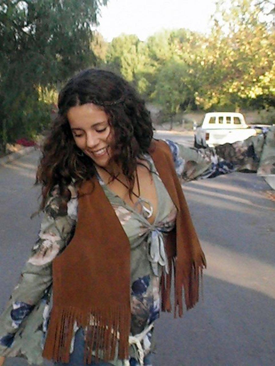 Hippie woman.