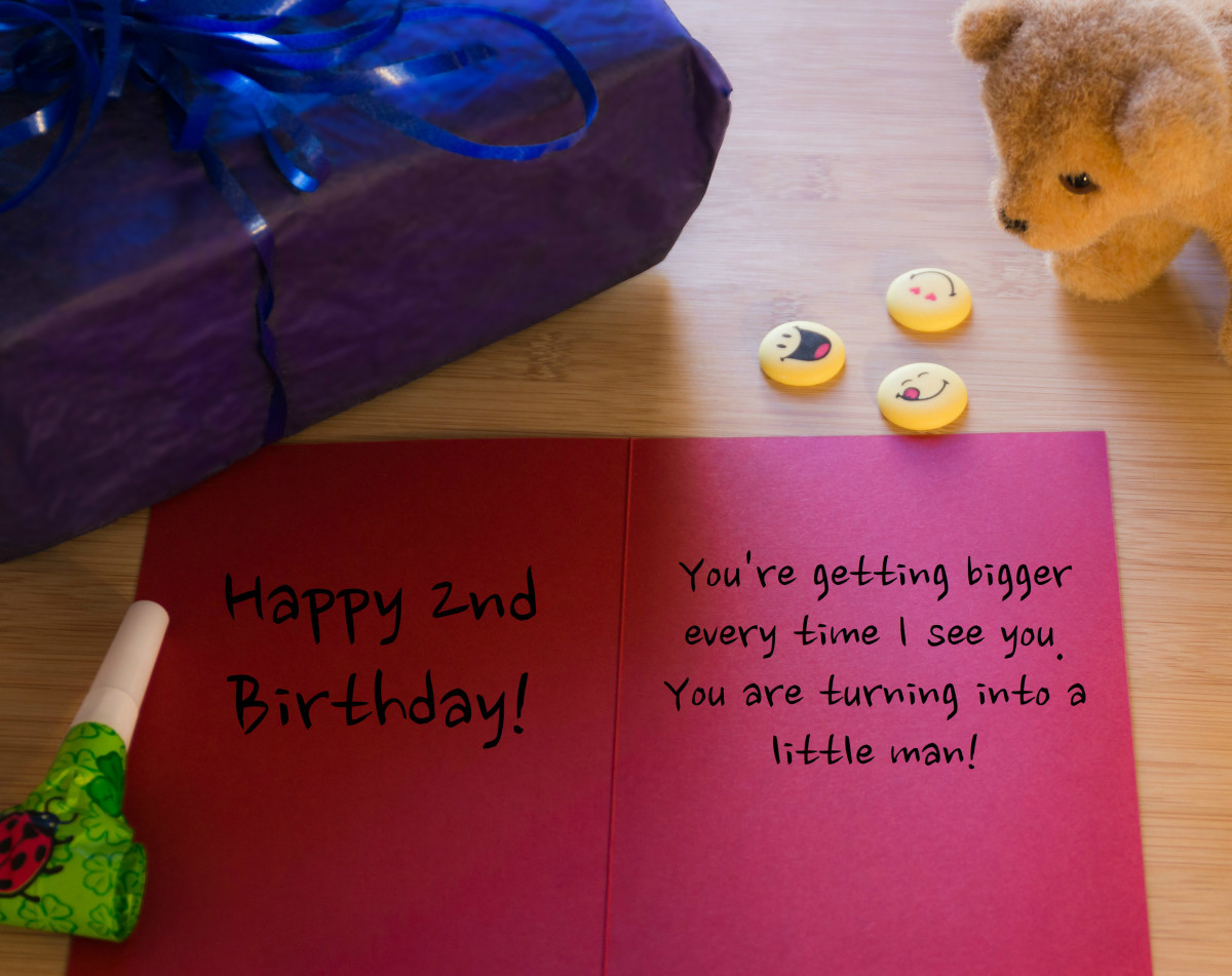 Since the birthday boy or girl is so young, it can be a good idea to encourage them about their future.