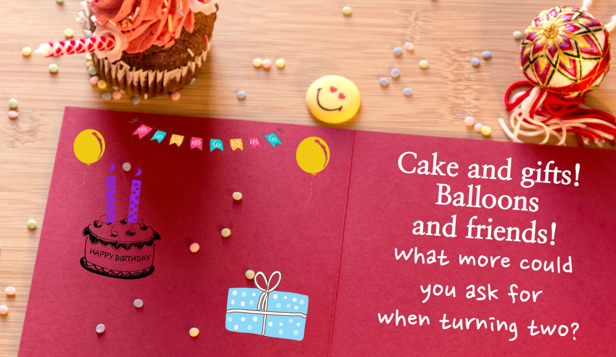 Write something sweet about the two-year-old that will bring a smile to their parents' faces.