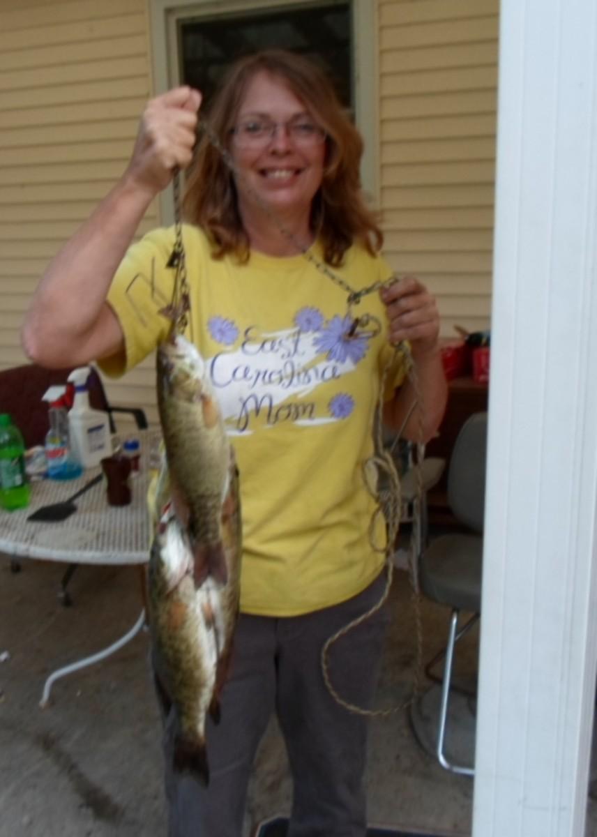 A stringer of fish.