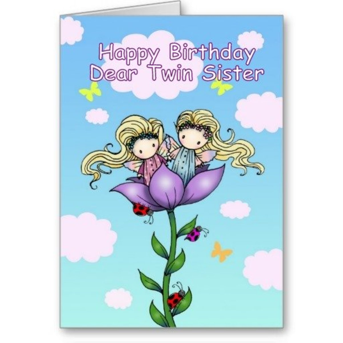 Funny birthday quotes for twin sister birthday card for twin sister funny birthday quotes for twin sister birthday card for twin sisters bookmarktalkfo Images