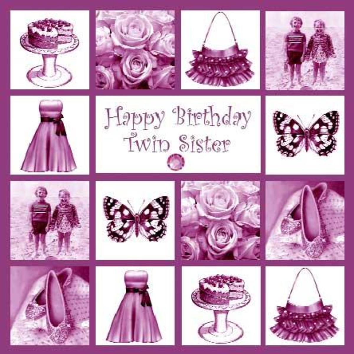 Happy birthday wishes and quotes for your sister holidappy birthday to a sister is one for your own twin sister below find some great cards with quotes on them for your twin on her and your special day bookmarktalkfo Gallery