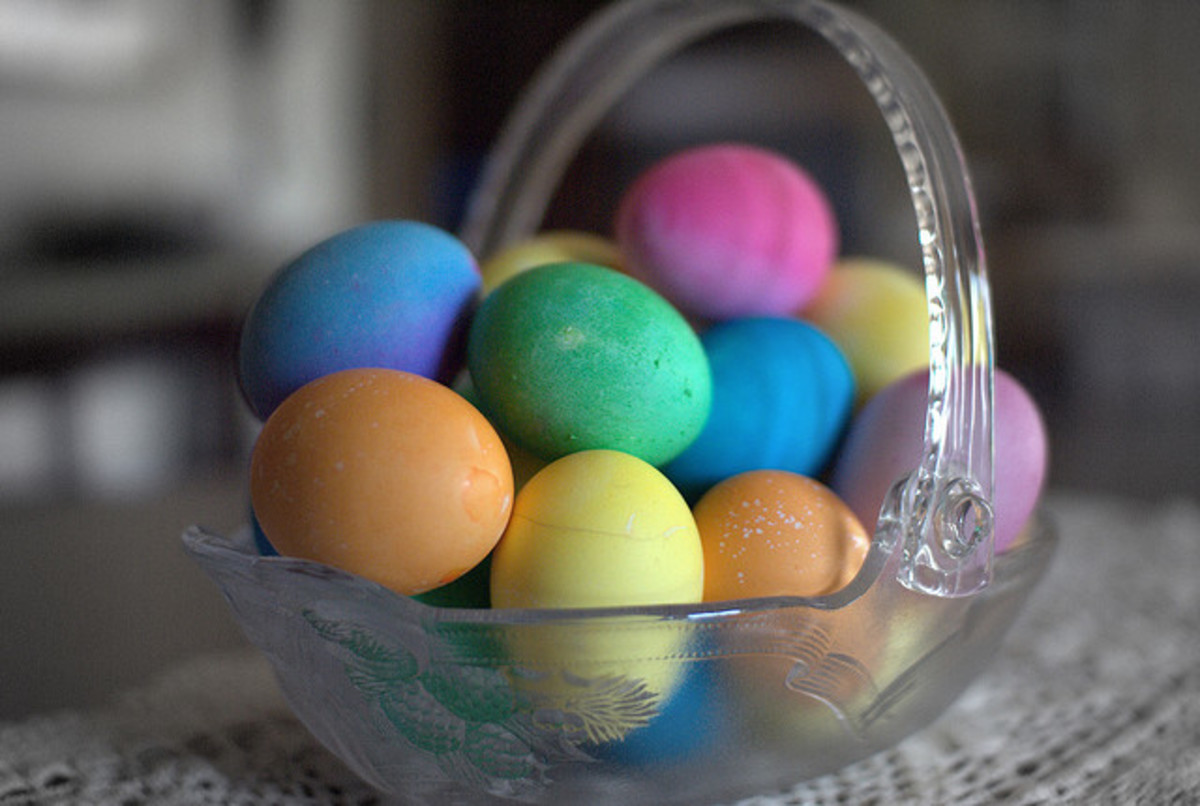 "When you're finished, your eggs should look just like ""normal"" hard boiled Easter Eggs!"