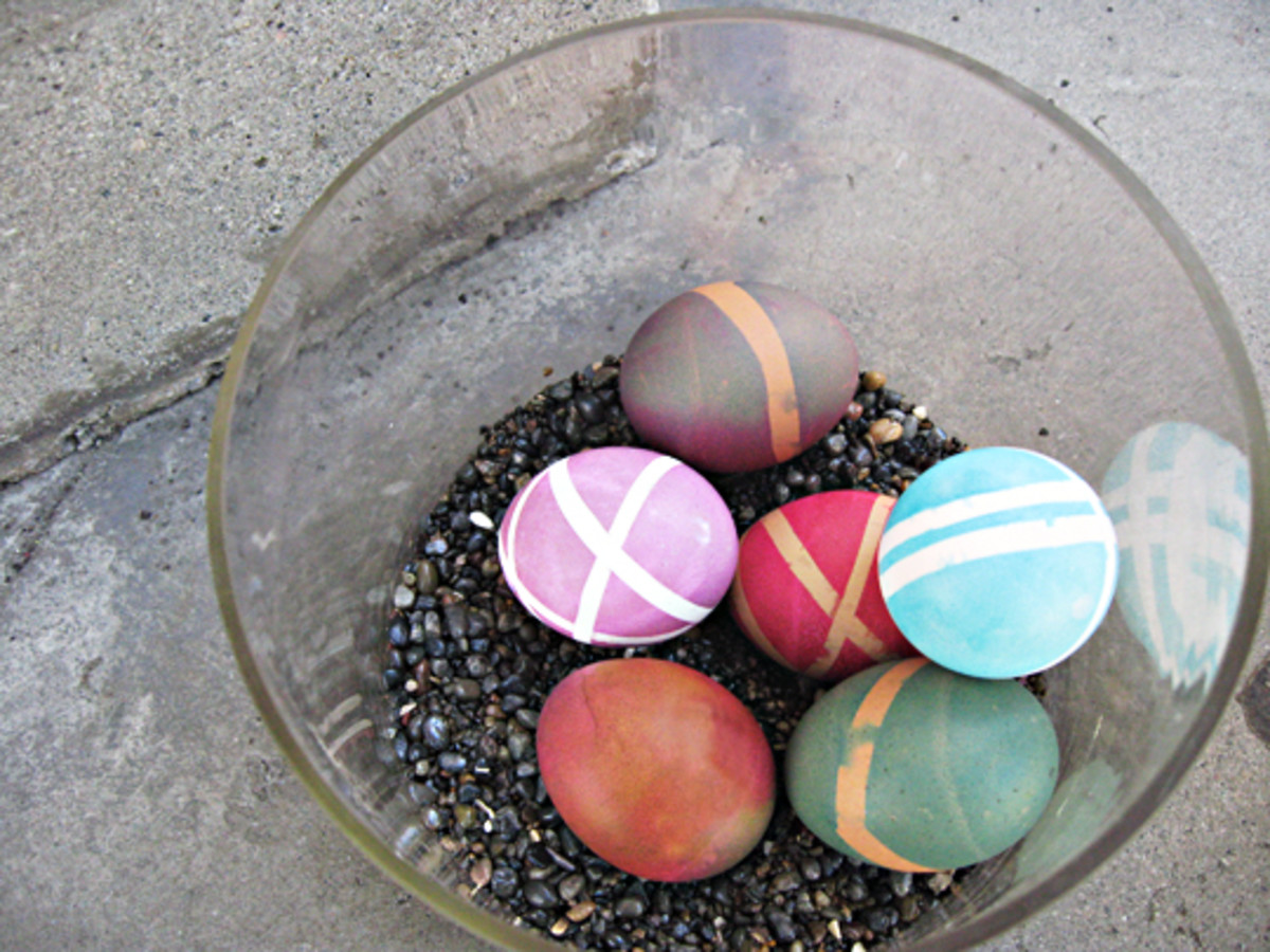 Colored eggs make wonderful Easter Decorations!