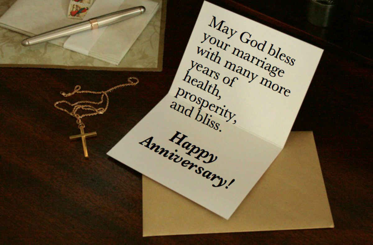 Receiving an anniversary card from a friend is a great affirmation of a successful marriage.