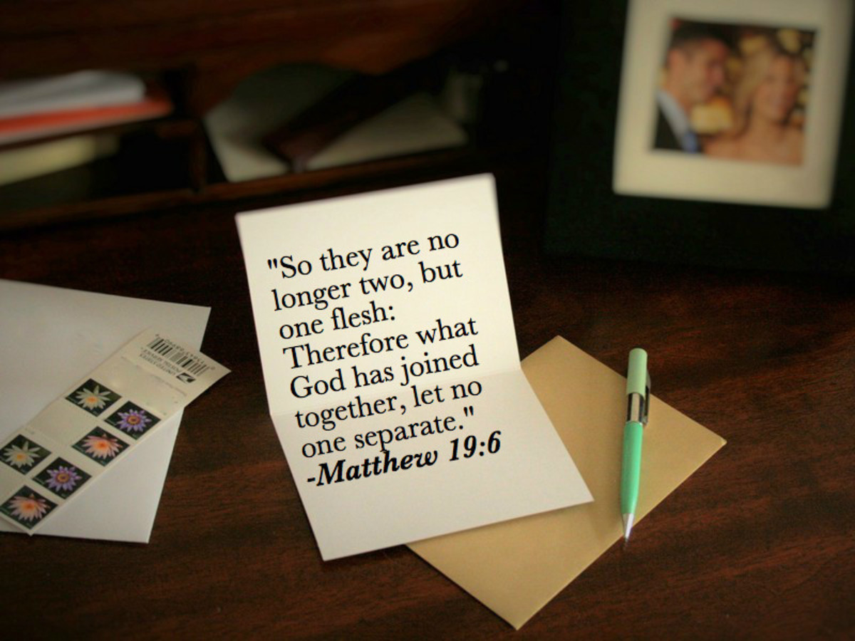 Bible verses can be a great way to start or end an anniversary card message.