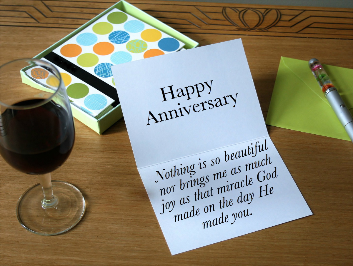 If faith is an important part of your marriage, writing a religious anniversary card can be a great way to celebrate your love.