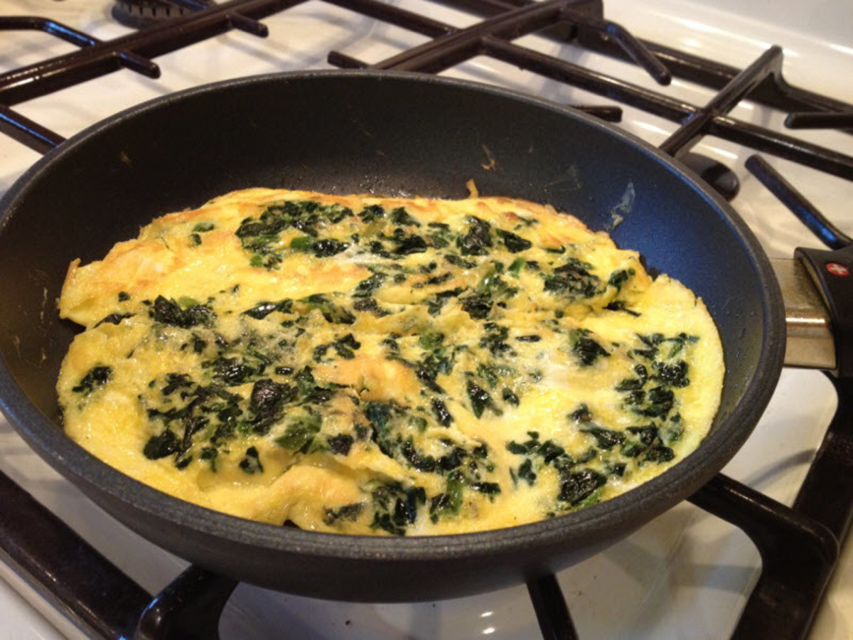 My Homemade Egg Frittata with Spinach