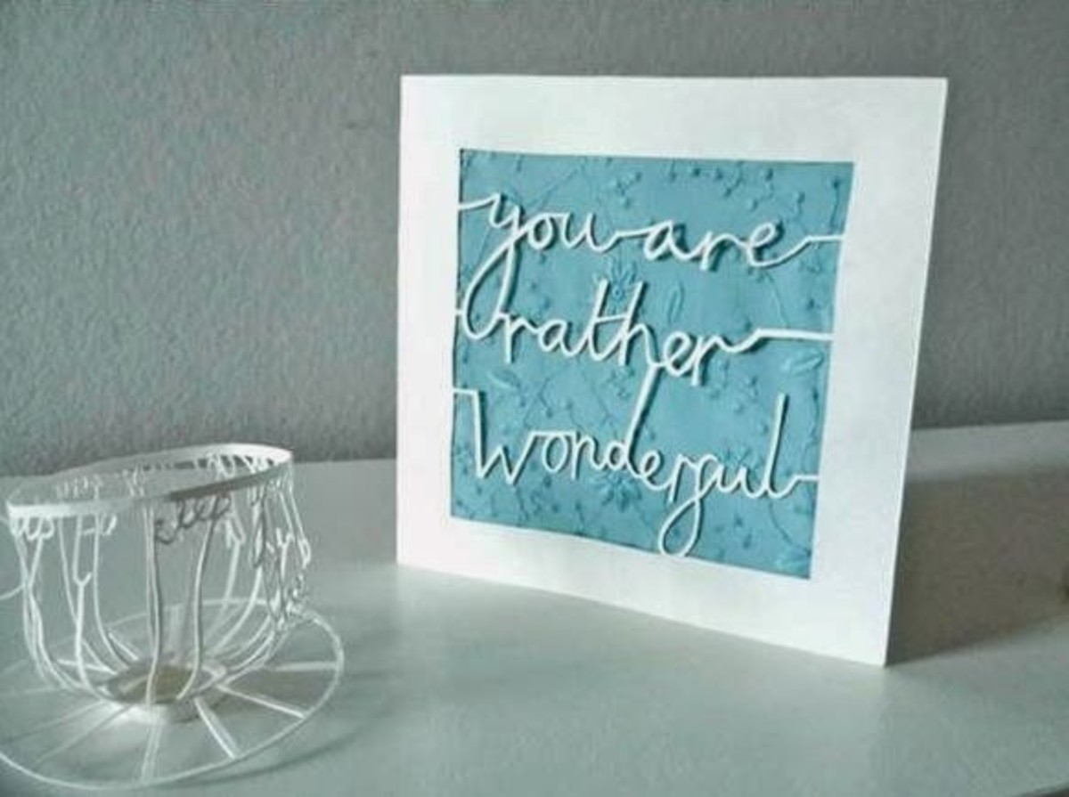 Cut-out message card