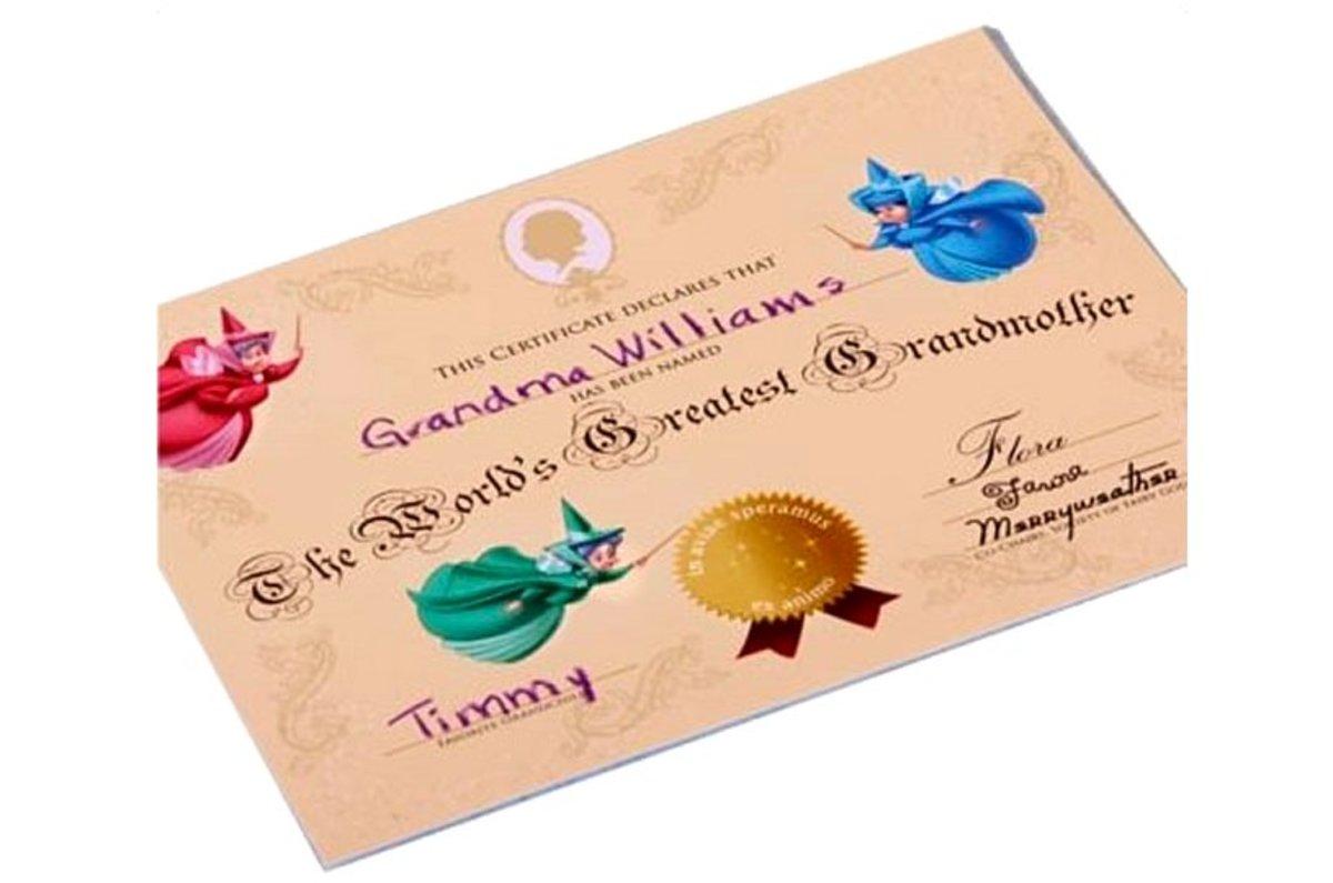 """World's Greatest Grandmother"" certificate"