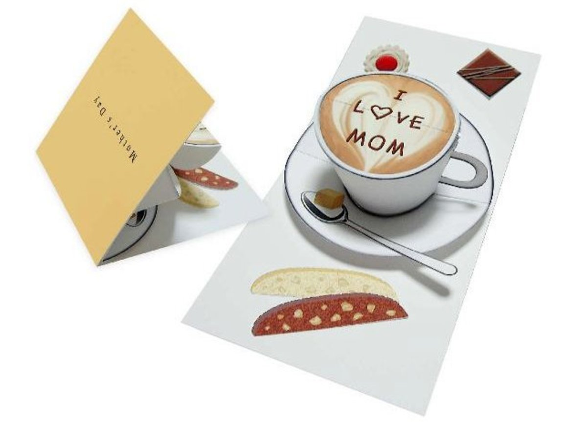 DIY Coffee Cup Pop Up Card