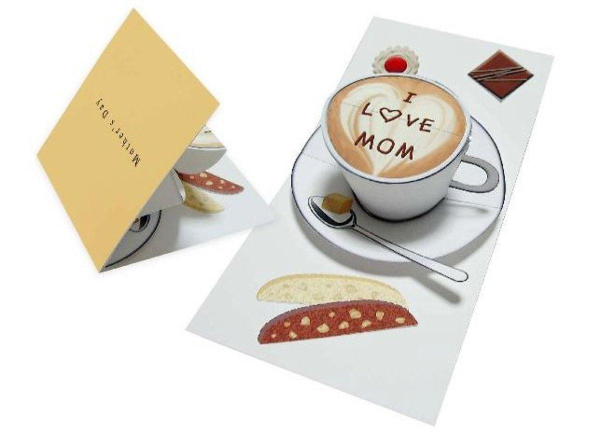 Coffee cup pop-up card