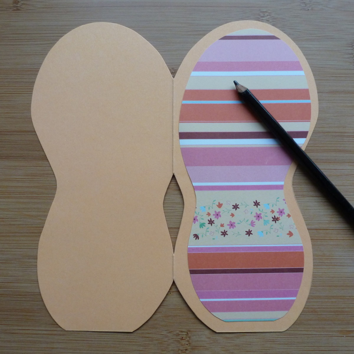 Making a traditional card style with the flip flop pattern