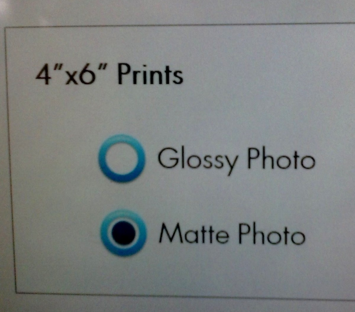You can choose the method of paper type you like best. Walmart uses the photo paper only - so decide which one you like best. I am partial to the matte photo for my invitations. But, it's a personal choice.